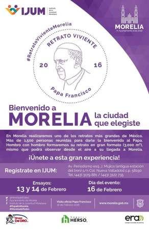 Habilitan en Morelia módulo de registro para participar en el Rostro Viviente del Papa