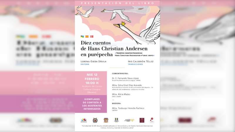 Presentarán UMSNH Cuentos de Hans Christian Andersen en Purépecha