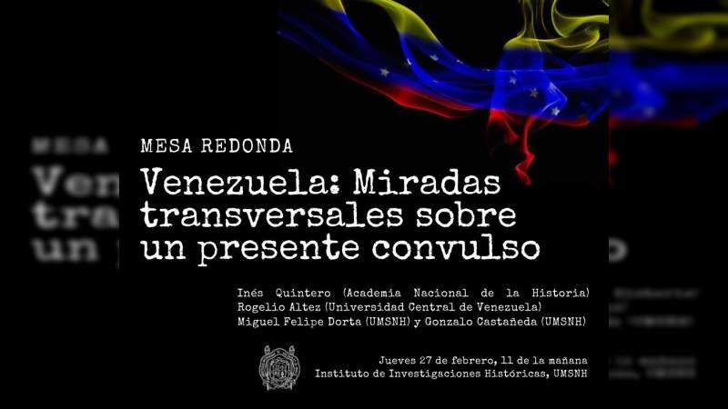 En UMSNH análisis sobre situación política, económica y social de Venezuela